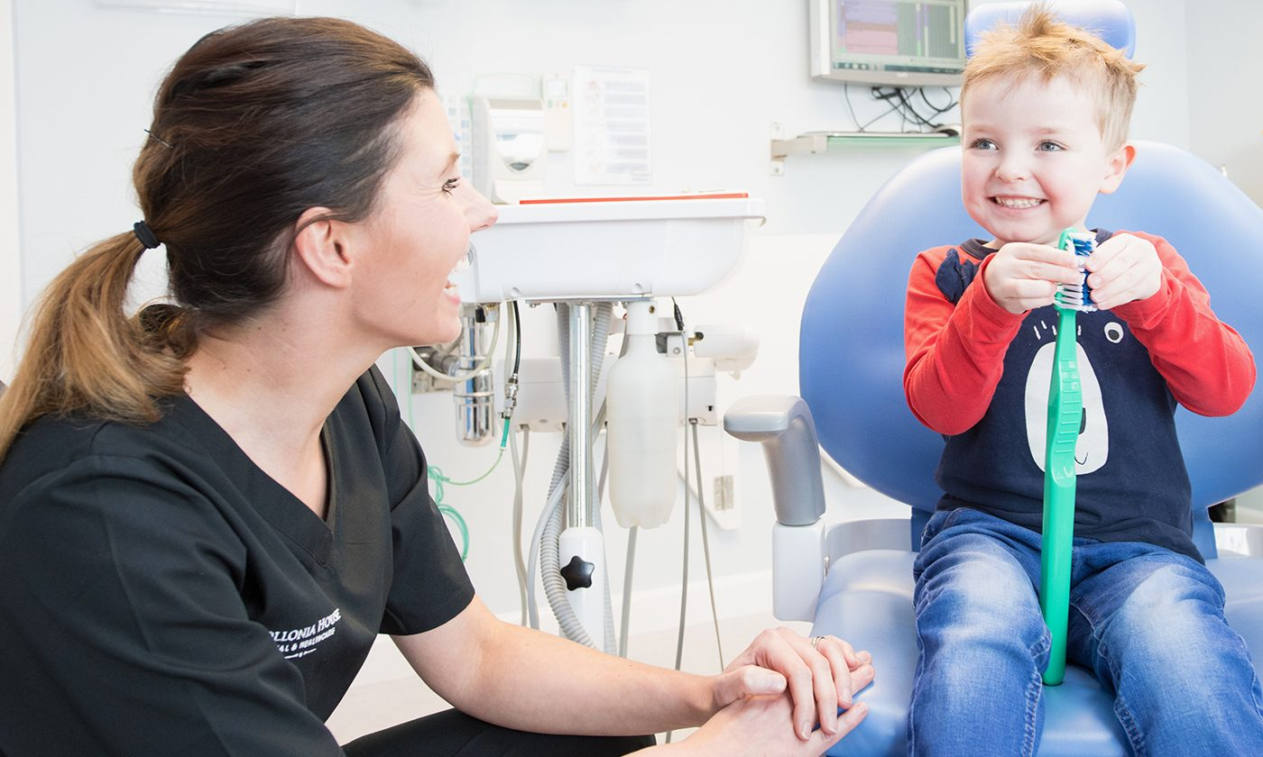 Child With Dentist Elms Lea 1