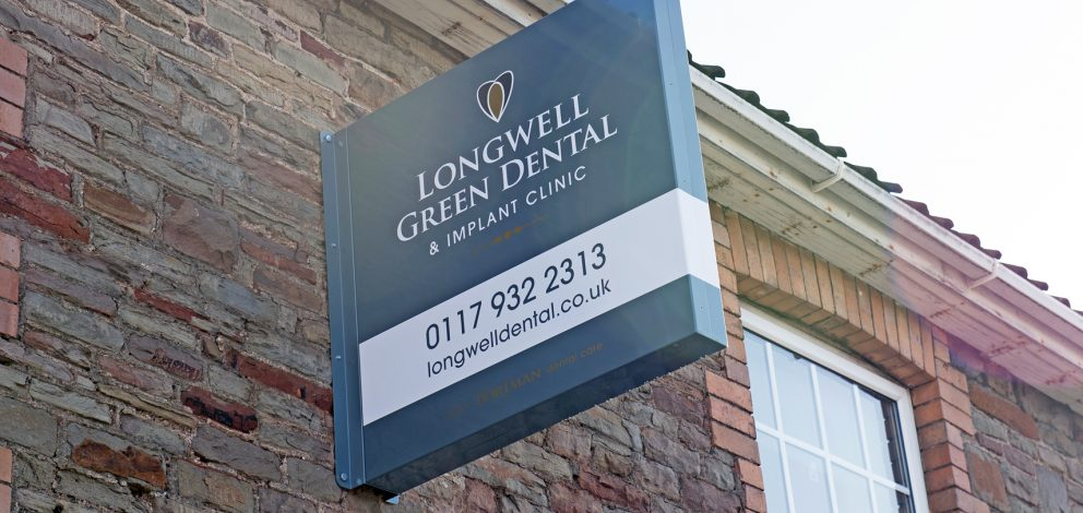 Longwell Green Exterior Sign Right Angles