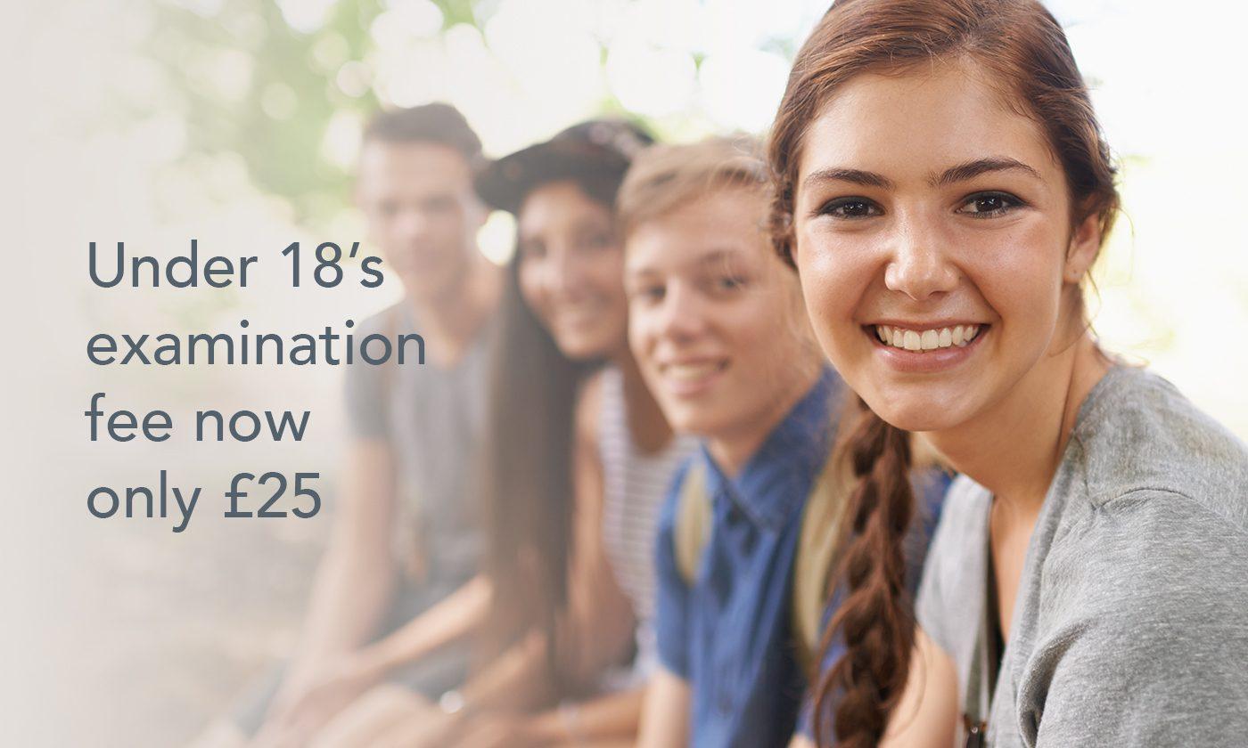 Under 18S Exam Fee V2 1400 X 840