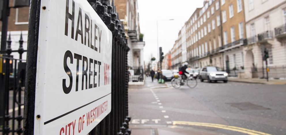 Exterior Harley Street Road Sign