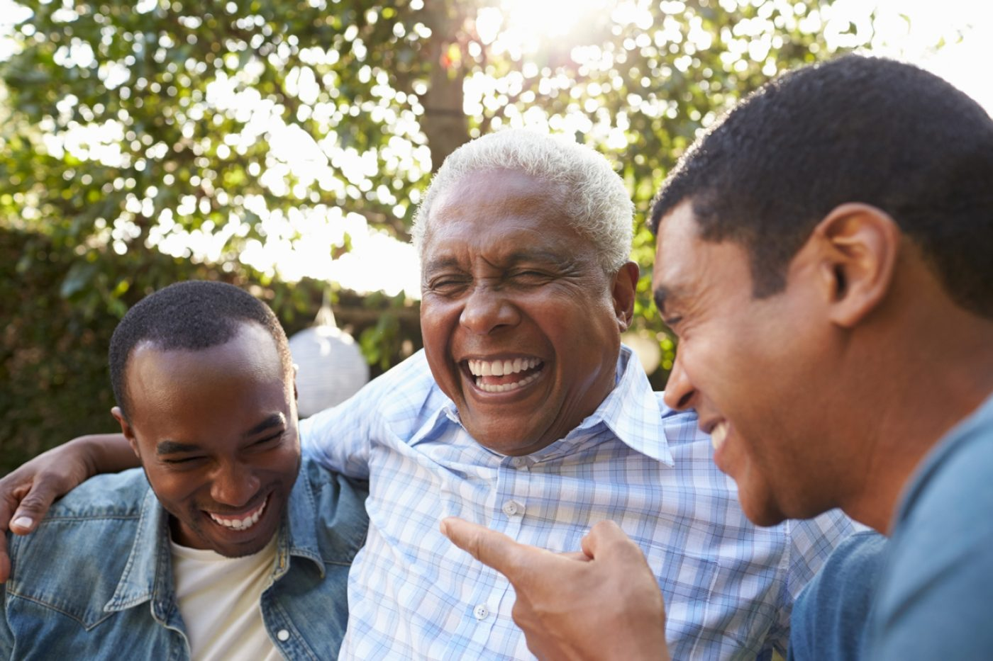 Smiling Group Of Men