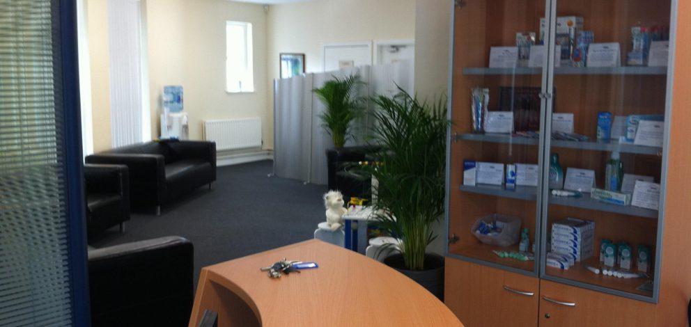 Durham City Smiles Waiting Room Desk
