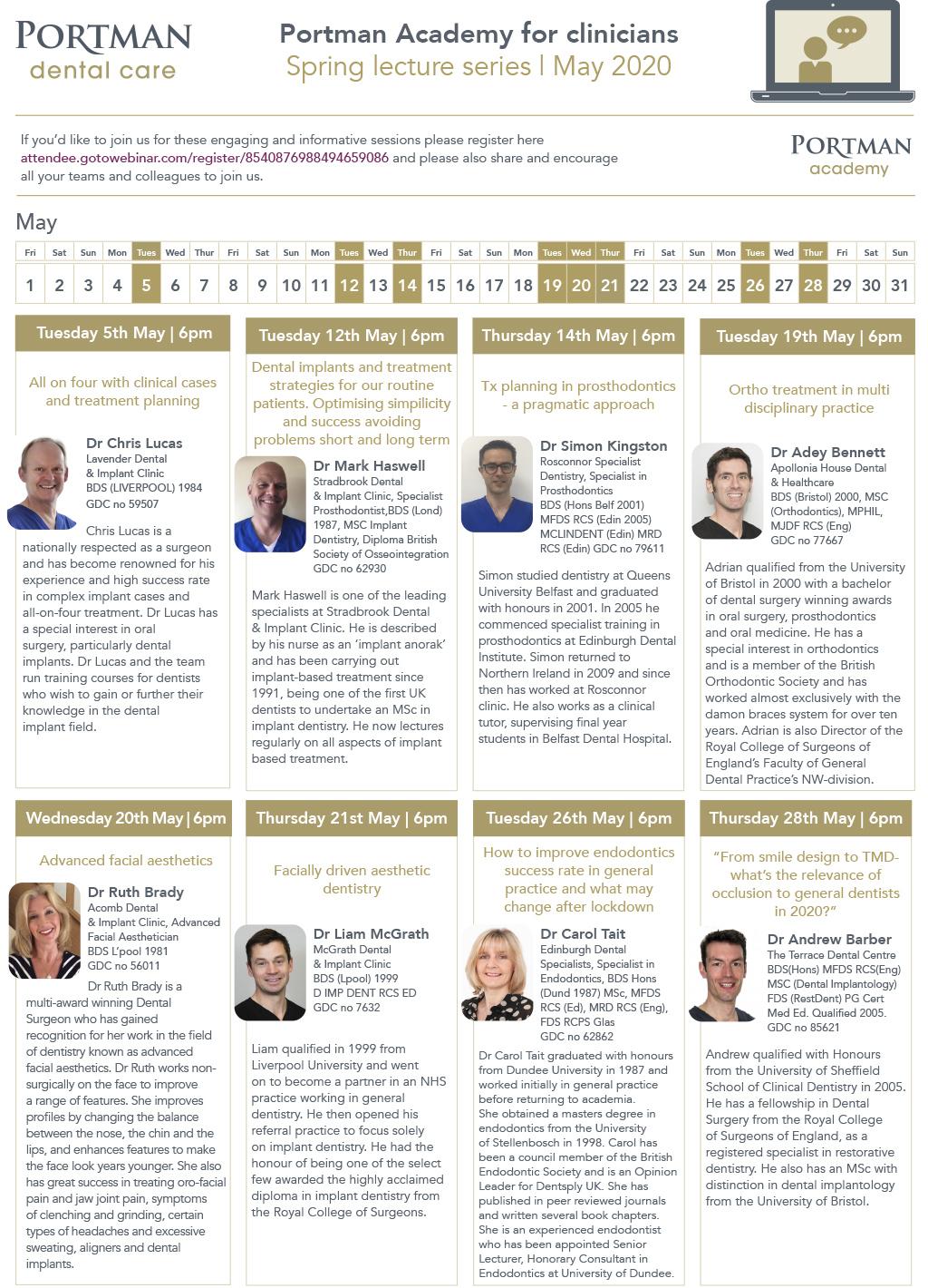 Webinar Calendar